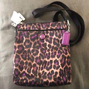 Coach multi violet crossbody bag